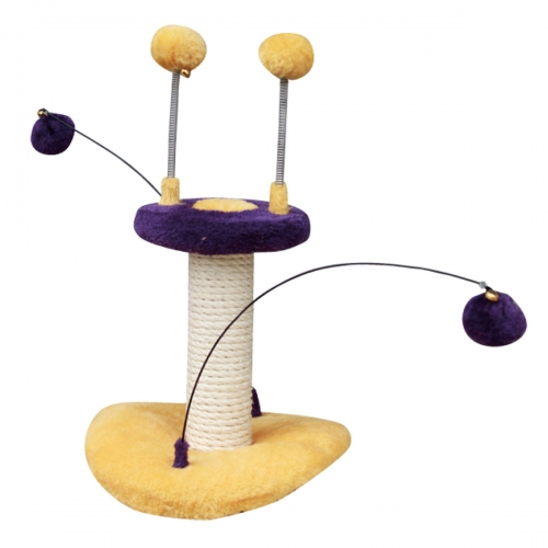 PetPals PP0026 Cat Toy With Sisal Post & Teasers