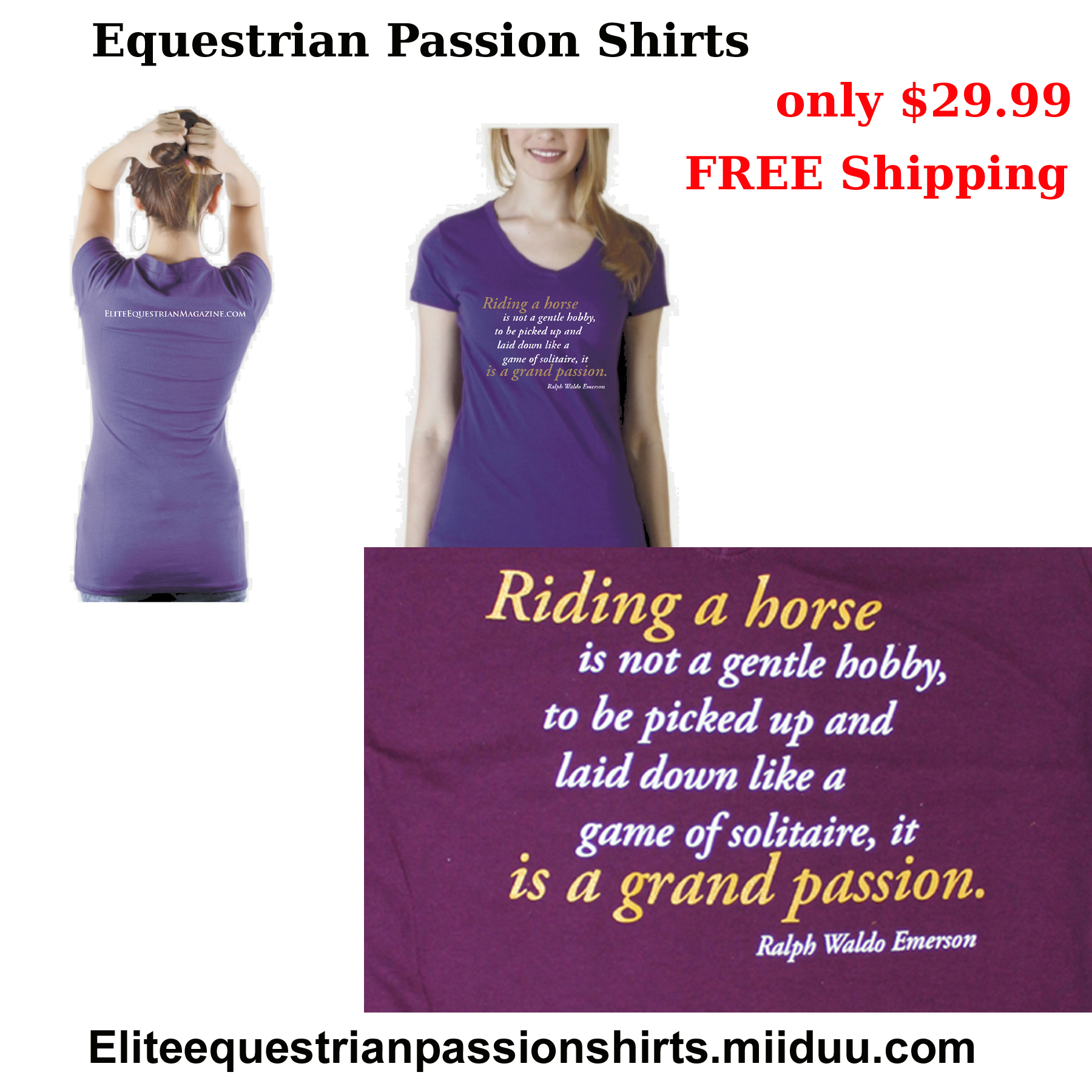 Elite Equestrian  Passion Shirts